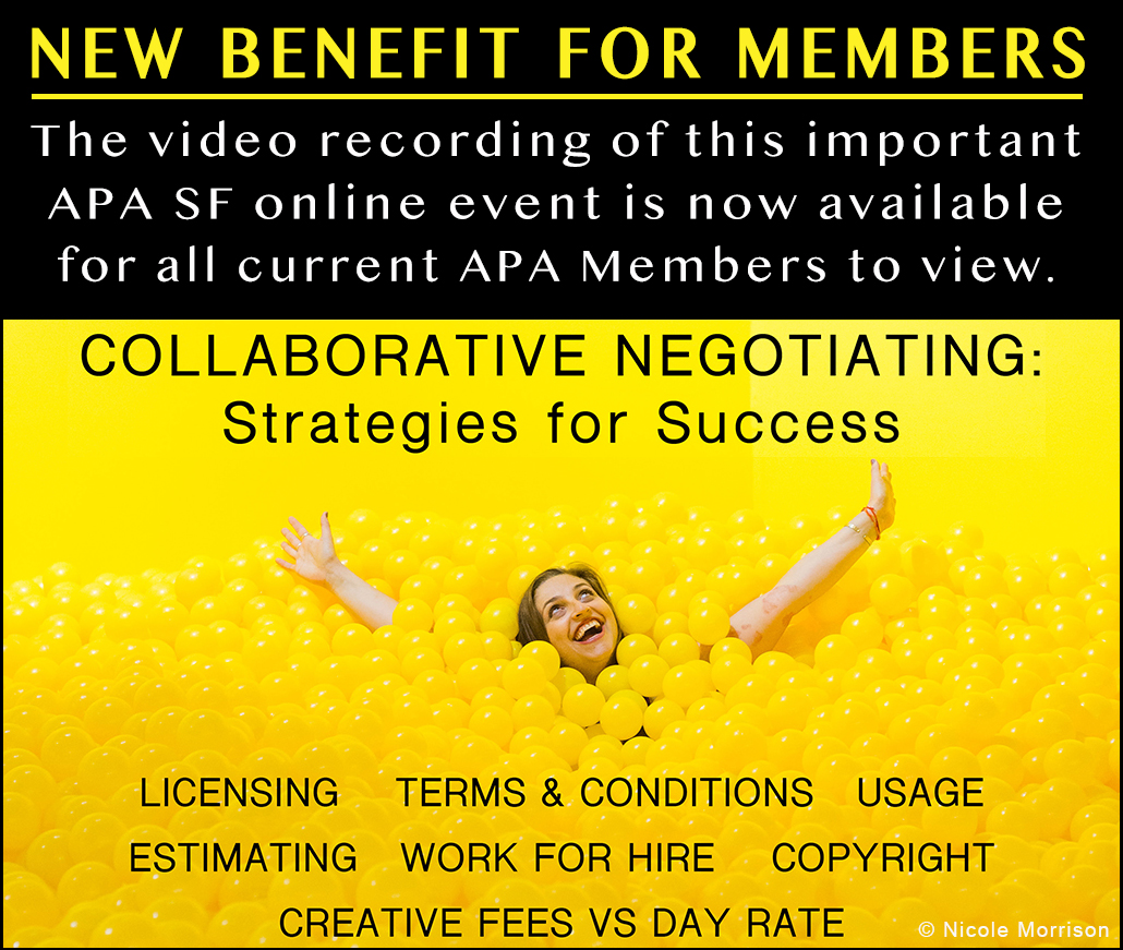 Collaborative Negotiating Event logo with Nicole Morrison ball pit photo
