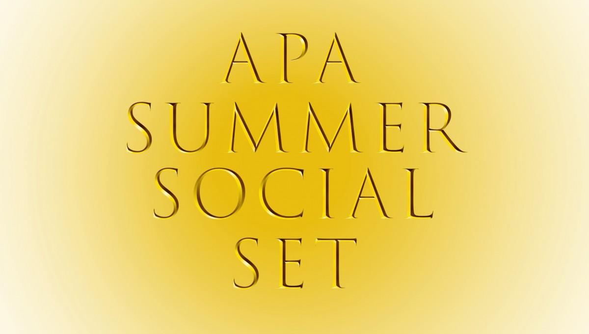 summer social party logo